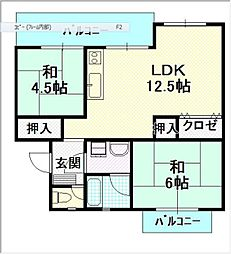 平川住宅 14[303号室]の間取り