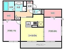 (仮称)東住吉区田中ハイツ[2階]の間取り