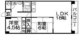 コウジィーコート[2階]の間取り