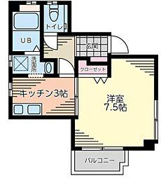 マウハトハウス 1階1Kの間取り