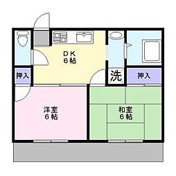柴田ハイツ[201号室]の間取り