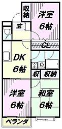 埼玉県所沢市林3丁目の賃貸マンションの間取り