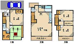 マツナガ建物 3階4LDKの間取り