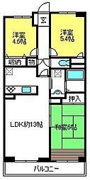 ルーレル大和田[5階]の間取り