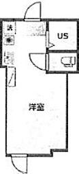 仮)アーバンプレイス高田馬場1丁目 1階ワンルームの間取り