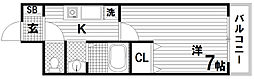 フルール須磨[1階]の間取り