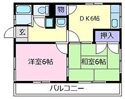 シティハイム島泉弐番館[1階]の間取り
