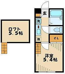 AZEST-RENT中野島II 1階1Kの間取り