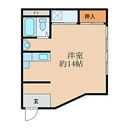 中央ビル[4階]の間取り