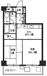モンテベルデ第2横浜[6階]の間取り