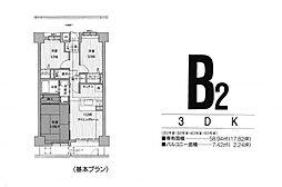 ガーデンライフ南福岡[403号室]の間取り