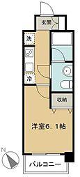 ヴァレッシア武蔵関駅前シティ 2階1Kの間取り