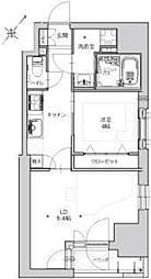 ミュージション東日本橋[2階]の間取り