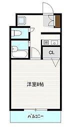 プレスト箱崎ステーション[307号室]の間取り