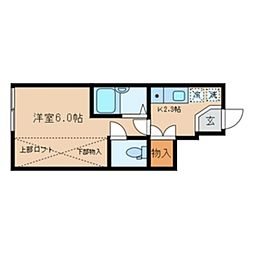 アイコート桜上水[1階]の間取り