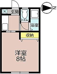 コーポ野田[202号室]の間取り