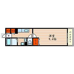 滋賀県彦根市錦町の賃貸アパートの間取り