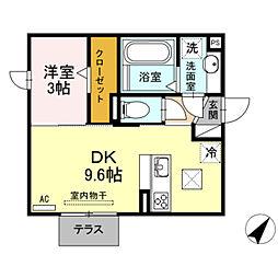 仮)D-room馬場町[1階]の間取り