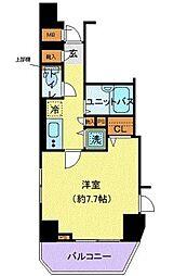 JR山手線 神田駅 徒歩3分の賃貸マンション 11階1Kの間取り