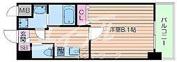 北大阪急行電鉄 緑地公園駅 徒歩10分の賃貸マンション 2階1Kの間取り