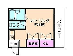 アプリコットパルファン[2階]の間取り