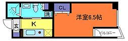 エス・キュート御影[2階]の間取り