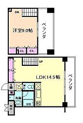 クレグラン北梅田[10階]の間取り
