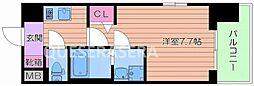 プロシード大阪EASTアクア・ラ・フォンテ 2階1Kの間取り