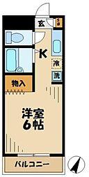 京王相模原線 京王永山駅 バス6分 瓜生通下車 徒歩3分の賃貸マンション 3階1Kの間取り