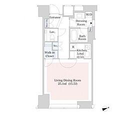 セントラルパークタワー・ラ・トゥール新宿[30階]の間取り