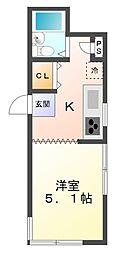 尾崎中町マンション[1階]の間取り