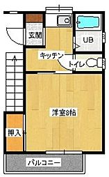 梅野コーポ3[102号室]の間取り