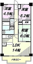 埼玉県入間市東藤沢4丁目の賃貸マンションの間取り