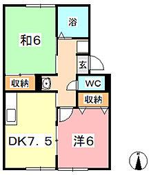 セジュールマキ III[2階]の間取り