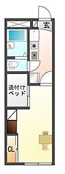 レオパレス輝竜[2階]の間取り