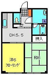 ラフィネK[102号室]の間取り