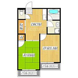 第2中北ビル[301号室]の間取り