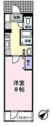 東京都世田谷区上用賀3丁目の賃貸マンションの間取り