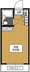 パレロワイヤル弦巻[1階]の間取り