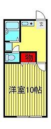 千葉県流山市大字中野久木の賃貸アパートの間取り