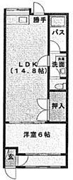 [一戸建] 福岡県福岡市中央区六本松1丁目 の賃貸【/】の間取り