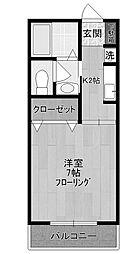 神奈川県川崎市多摩区宿河原3丁目の賃貸マンションの間取り