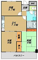 妙法寺シャロム[5階]の間取り