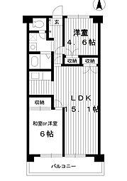 東京都練馬区大泉町1丁目の賃貸マンションの間取り
