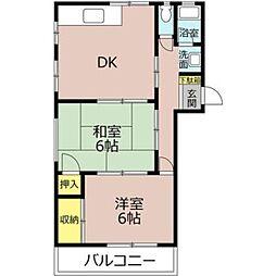 谷郷ビル[2階]の間取り