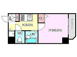 U-ro新大阪[3階]の間取り