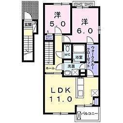 ドルチェビータ[2階]の間取り