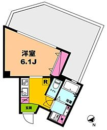月村マンションNo21[4階]の間取り