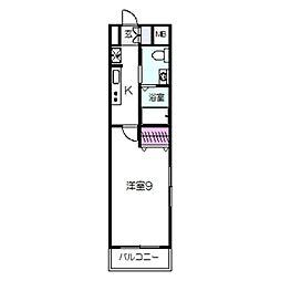Osaka Metro四つ橋線 住之江公園駅 徒歩7分の賃貸マンション 7階1Kの間取り