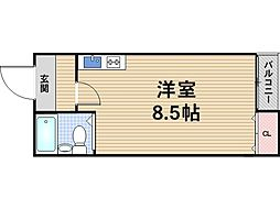 リバーライズ八戸ノ里[2階]の間取り